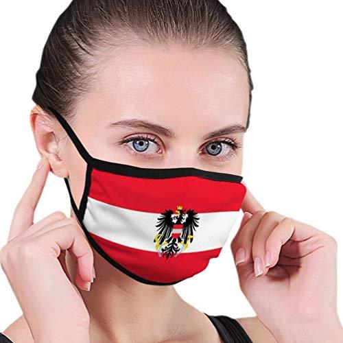 Mundschal, Flagge Österreich Coloured Paradise Luxuriöser Mundnasenschal für täglich,17.5x12cm
