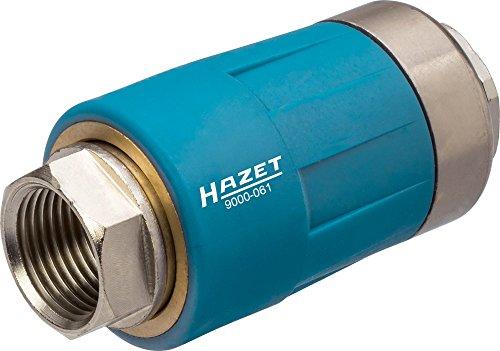 HAZET Sicherheitskupplung (passend für alle Luftanschlussnippel, sichere Trennung der Verbindung, 3/8 Zoll (16,41 mm) Innengewinde) 9000-061