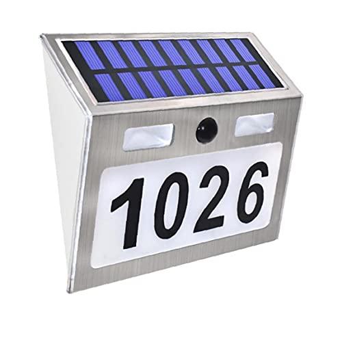 Sensore Solare Lampada Lampada Led Led Parete Accensione Segno Indirizzo Impermeabile Numero Telecomando Natale Per La Porta Giardino, Luci Solari Ornamenti Da Giardino All'aperto