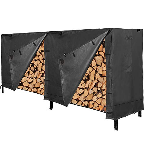 Best Buy! RedSwing Firewood Rack Cover 8 Ft, Log Rack Cover, Heavy Duty and Water Resistant 600D Oxf...