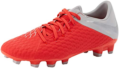 Nike Unisex-Erwachsene Hypervenom 3 Academy FG Sneakers, Mehrfarbig (Lt Crimson/MTLC Dark Grey/Wolf Grey 001), 41 EU