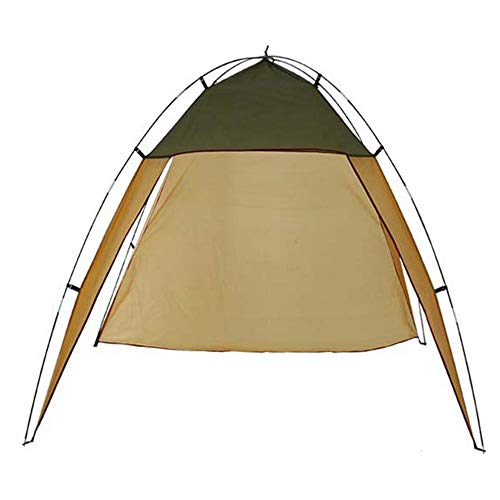 DGZJ Rahmen Zelte Outdoor Canopy Lichtzelt Windschutzscheibe Camping Große Markise Camping Pergola Ideal für Camping Wandern Außen (Color : Coffee, Size : 3-4 People)
