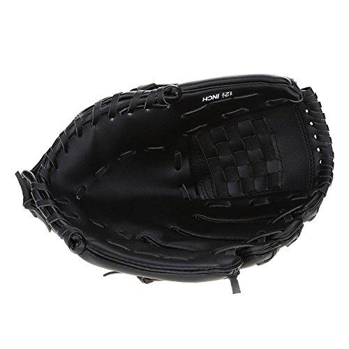 Alomejor Baseball Handschuh 2 Farben Erwachsene Baseball-Zusätze linker Handschuh für übenden Trainings Wettbewerb(Schwatz)