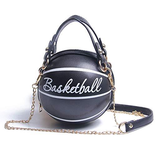 Basketball Shaped Cross Body Bag Handle Tote Small Round Purse Shoulder Handbag For Girls Women