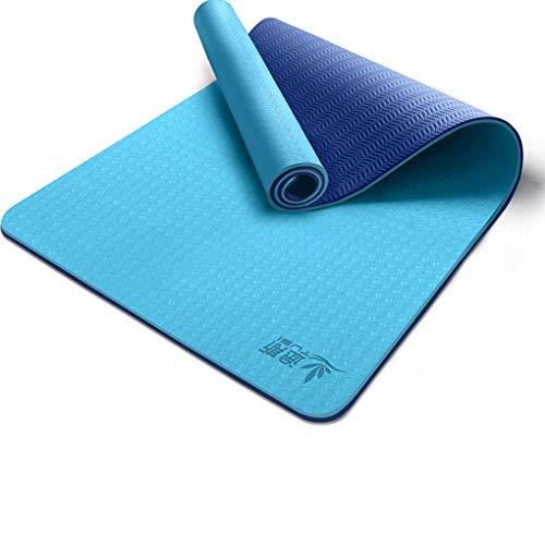 Esterilla de yoga para ejercicio femenino ensanchada y engrosada para principiantes, manta de yoga y yoga alargada, antideslizante para el hogar (color: F, tamaño: 183 x 80 x 8 mm)