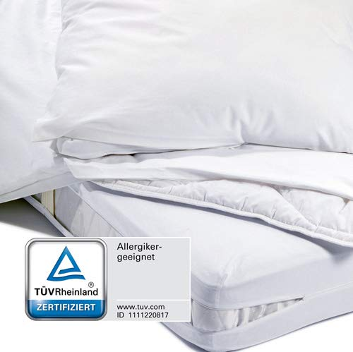 Evo-Pro-Tech EVOLON Mattress Cover Encasing Mite Proof Allergy Sufferers Cover Mites Dust Mite Proof, Microfibre, 140x200x20cm