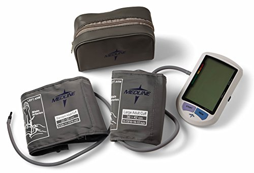 Medline - MDS3001PLUS Elite Automatic Digital Blood Pressure Monitor, Adult and Large Adult Cuff Included