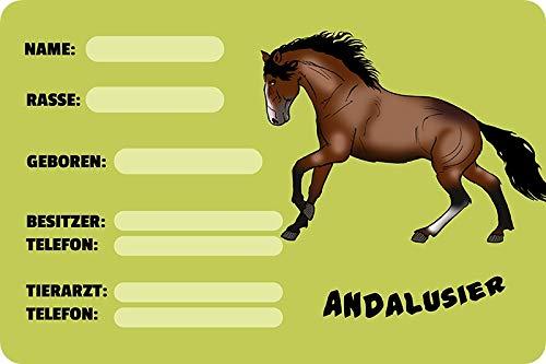 Metalen bord 20x30cm boxbord dozen Andalusier Stall paard metalen bord