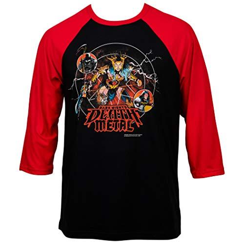 DC Comics Dark Nights Death Metal Comic Cover Baseball T-Shirt - Rot - Groß