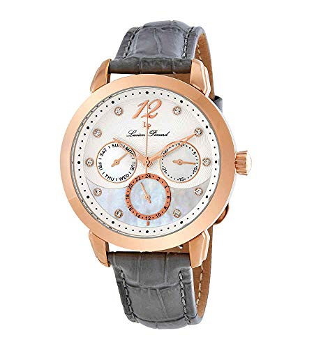 Lucien Piccard Women's 'Rivage' Quartz Stainless Steel and Leather Casual...