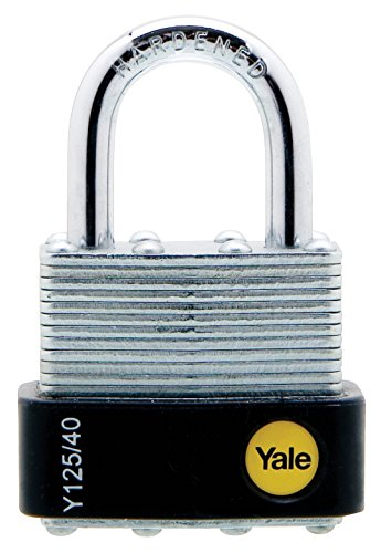 Yale Y125/40/122/1 Laminated Steel Padlock, 40mm, pack of 1, suitable for garages and sheds