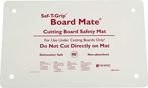 San Jamar CBM1016 Saf-T-Grip Board-Mate Nonslip Cutting Board Mat, 16' Width x 10' Height