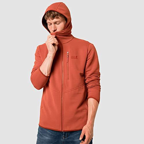 Jack Wolfskin Herren Modesto Hoodie Jacke, Saffron orange, XXL