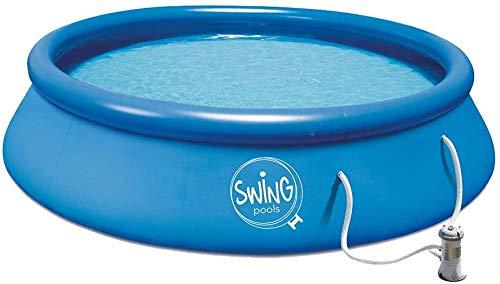 well2wellness® Quick-Up Pool Aufstellbecken Swing Ø305 x 76cm blau inkl. Filterpumpe