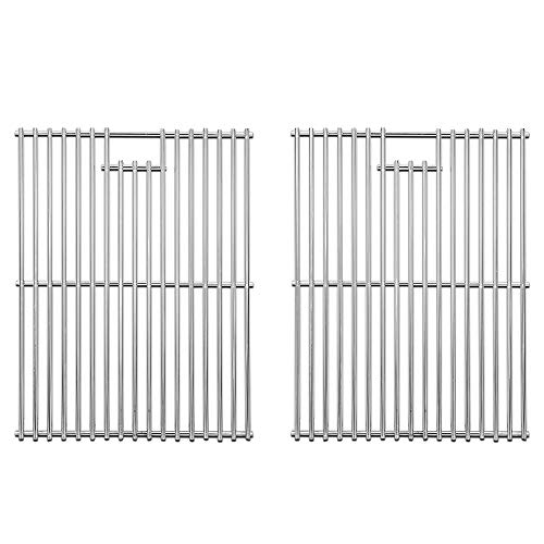 DcYourHome Solid 304 Stainless Steel Cooking Grids, Grill Grates Replacement for Nexgrill 720-0830H, Master Forge 1010037, Kenmore 122.16119 415.16107110, Uniflame GBC981W GBC091W, 2 Pcs 17 3/8'
