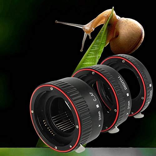 Wenwenzui-ES XT-364 3-teiliges Autofokus-Makro-Verlängerungsrohrset für Canon EF/EF-S-Objektiv