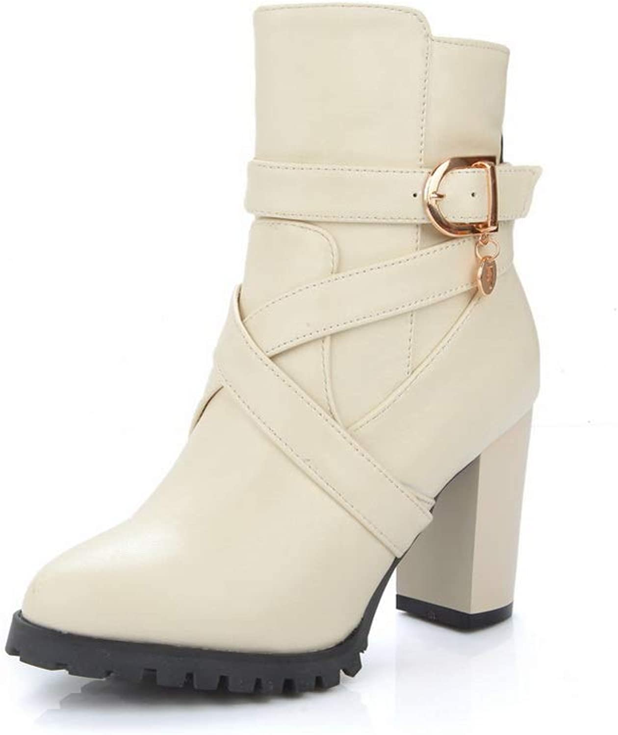 1TO9 Womens Bucket-Style Fashion Solid Urethane Boots MNS03155