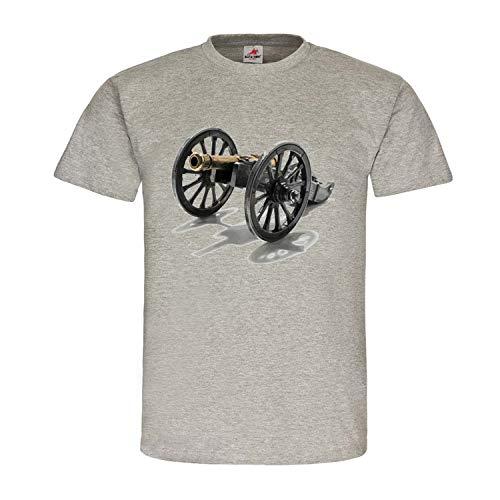 Shirtzshop #22584 - Maglietta a maniche corte, motivo: cannone americano Revolver CSA USA grigio. XXL