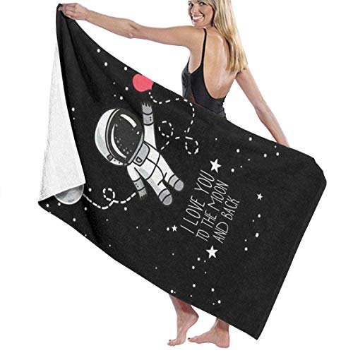 AGSIGGS Superfine Faser-Badetuch Set Space Astronaut Druck Waschlappen Badezimmer hoch saugfähig Extra großes Badetuch Strand Reise Badewanne Schnell trocknend Pool Gym Handtücher Set