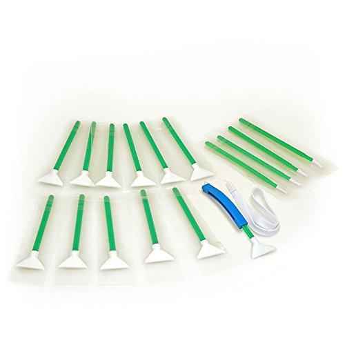 Sensor Cleaning swabs Vswabs MXD-100 Green 1.6X / 16 mm 12 per Pack with Bonus CurVswab and Corner Swabs