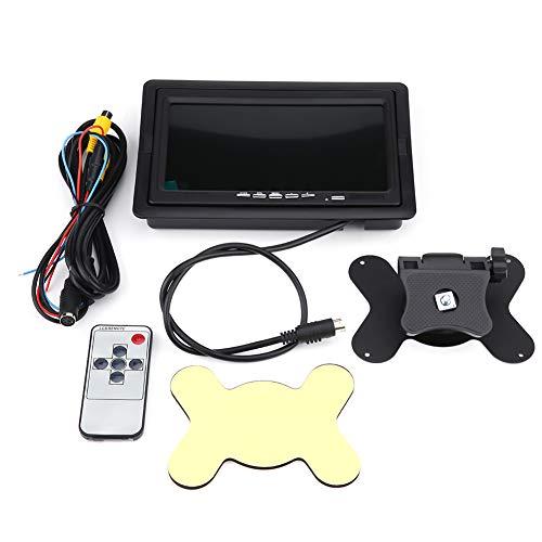 Yagosodee Vista Posterior del Coche de 7 Pulgadas HD Que Invierte La Pantalla de Monitor Tft LCD a Color de Respaldo