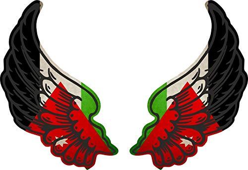 Akachafactory sticker vleugel motorfiets biker vlag vlag JOR jordanië