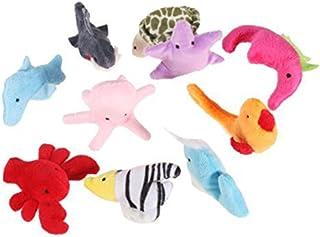 rosenice 10 stuks vingerpoppen handpop zee dieren pluche speelgoed set