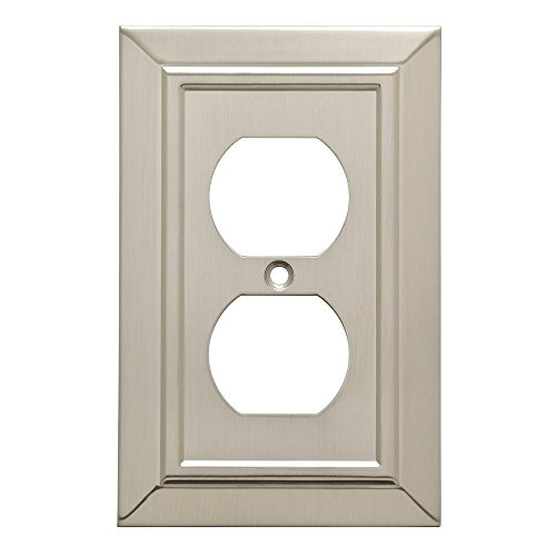 Franklin Brass W35218-SN-C Classic Architecture Single Duplex Outlet Wall Plate/Switch Plate/Cover, Satin Nickel