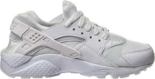 Nike Jungen Huarache Run (GS) Low-Top, Weiß (110 White/White-Pure Platinum), 36.5 EU