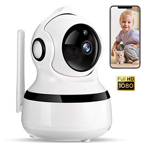 1080P Cámara IP WiFi para Mascota, Cámara de Vigilancia Inalámbrica con Audio de 2 Vías y Visión Nocturna Cámara para la Seguridad Casera y Mascotas Bebé Elder Niñera de Detección de Movimiento