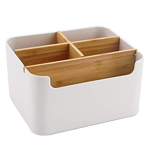 Seasaleshop Holz Desktop Stift, Schreibtisch Organizer Bambus Tisch Organizer Set Büro Schreibtisch Organizer Bleistift, Handy, Büro & Home Fernbedienung Aufbewahrungsbox