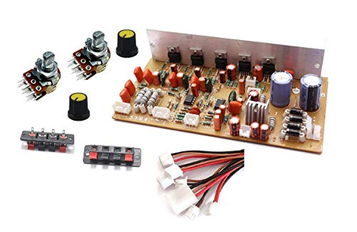 ERH India 5.1-6.1 Stereo Home Theater Kit Audio Amplifier Board with Volume and Bass Controllers, Speaker Connectors and Connecting Wires TDA2030 IC Based