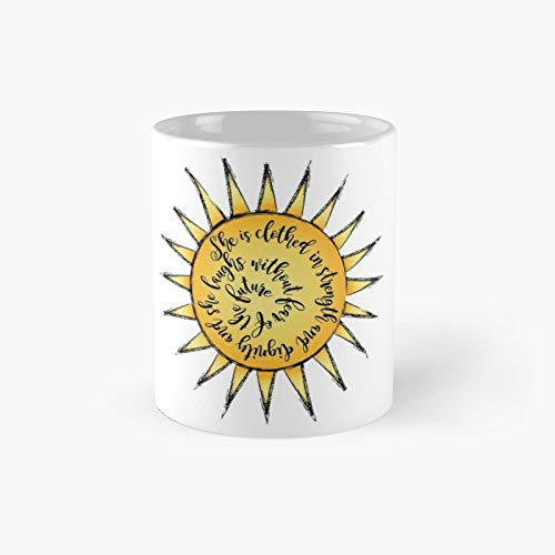 Proverb 3125 Sun Classic Mug - Ceramic Coffee White (11 Ounce) Tea Cup Gifts for Bestie, Mom and Dad, Lover, LGBT