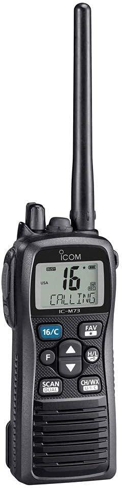 ICOM M73 Handheld Submersible VHF 6W - M73 41: Sports & Outdoors