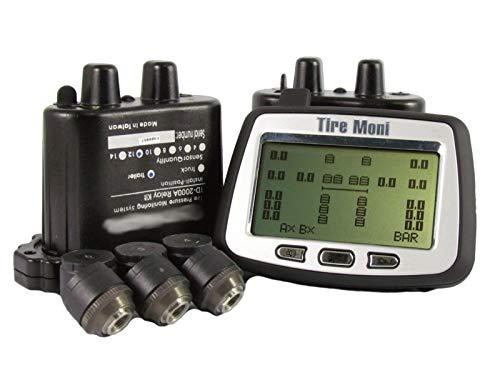 TireMoni Truck TPMS TTM-2000X-DR10-R12 - Sistema de Control de presión de neumáticos (22 sensores, 2 repetidores)