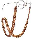 LIKGREAT - Cadena colorida de sujeción de gafas para mujer, Marrón (Marrón), Large