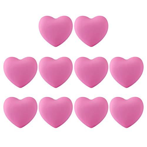 iVansa Pomelli Mobili per Bambini, 10 Pezzi Forma di Cuore Maniglie per Armadio, Cassetto, Bagno, Decorazione per la Cameretta dei Bambini