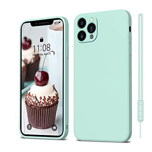 ORDA iPhone 11 Pro Hülle Silikon Hülle, Hanyhülle iPhone 11 Pro Ultra Dünn Slim mit Microfiber, Kratzfeste R&umschutz Hülle Schutzhülle Hülle für iPhone 11 Pro 5.8'' Mint Grün