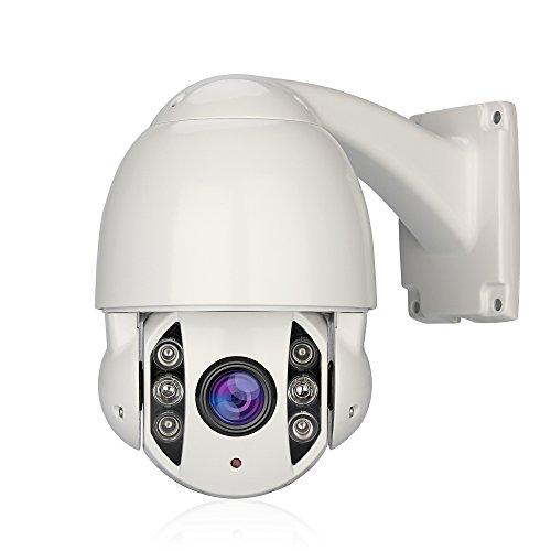 Annke Zoom digitale PTZ telecamera di sicurezza CCTV, IP66resistente alle intemperie e visione notturna superiore agli atti vandalici, 700TVL Sony Super HAD CCD 3x Zoom Outdoor pan telecamera dome PTZ, 360gradi, inclinabile fino a 90gradi