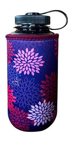 Koverz - #1 Neoprene 24-30 oz Water Bottle Insulator Cooler Coozie - Midnight Mums