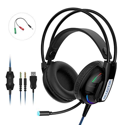 ISELECTOR Gaming Headset Headphones…