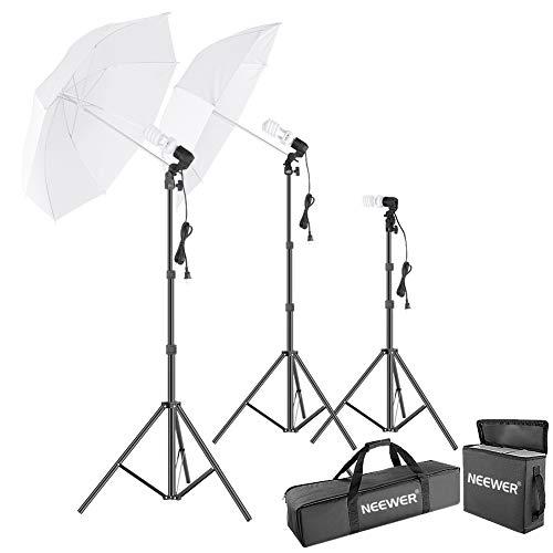 Neewer - Kit de Foto Estudio Paraguas Luz de Día, Ilumincación Continua para para Fotografía de Producto, Retrato y Disparo de Video