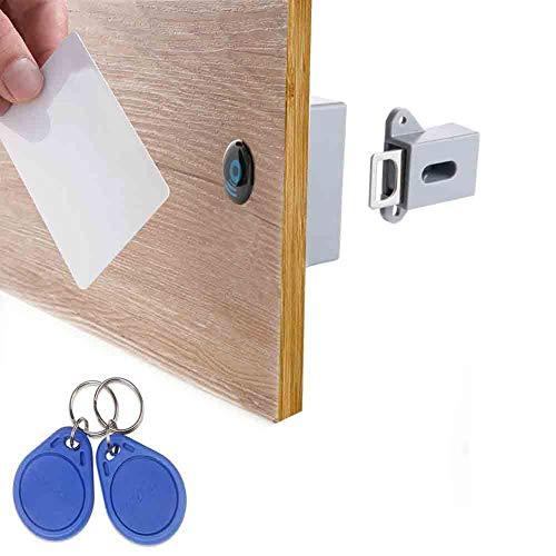 Bangle009 Versteckte elektrische intelligente RFID Induktion Kleiderschrank Schuhschrank Türschloss Einheitsgröße grau