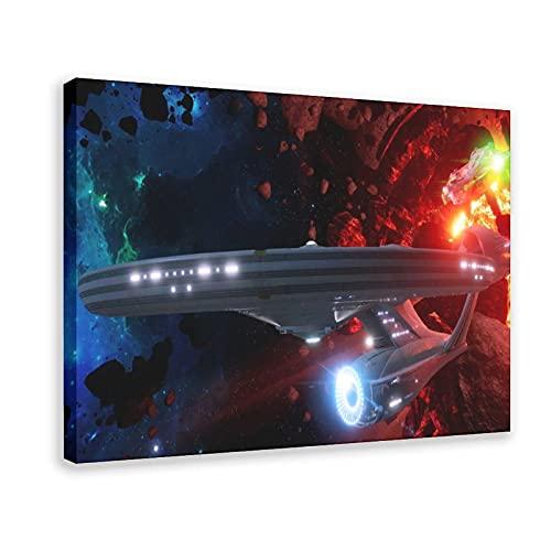 Póster multijugador 'Star Trek' VR Game Rolls Out to Dave & Bust The Video Game Canvas Poster Decoración Dormitorio Deportes Paisaje Oficina Decoración Regalo 30 x 45 cm Marco: