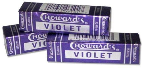 3 Pack Chowards Violet Mints - C Howard's Old Fashion Mints 3 Pack - Nostalgia Candy
