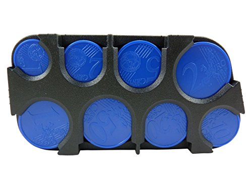 Scatola porta monete, per organizzare le monete, in plastica, Nero (nero), TU
