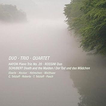 Haydn, Rossini & Schubert: Duo, Trio & Quartet