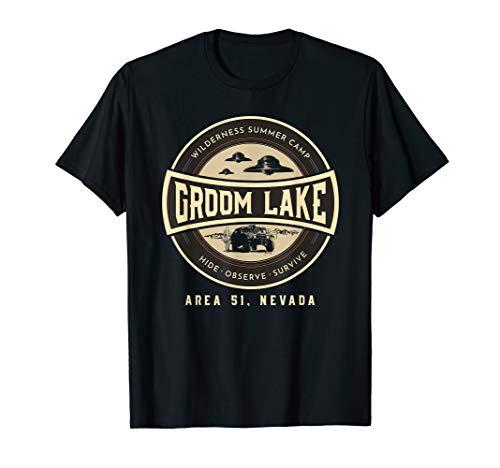 Funny Area 51 Alien UFO Groom Lake Wilderness Sommercamp T-Shirt