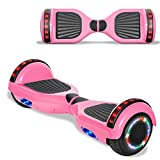 TPS Electric Hoverboard Self Balancing Scooter for Kids and Adults Hover Board with 6.5' Wheels Built-in Bluetooth Speaker Bright LED Lights UL2272 Certified (Pink)