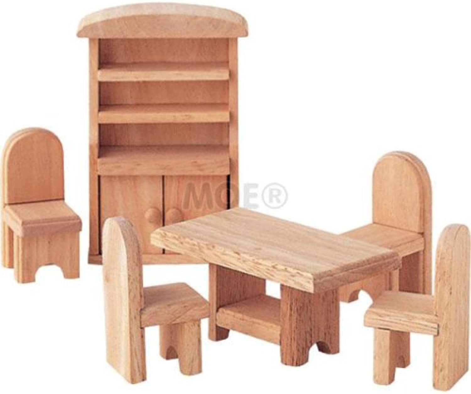 Plan Toys 9012  Dining Room (Wooden Dollhouse Furniture)